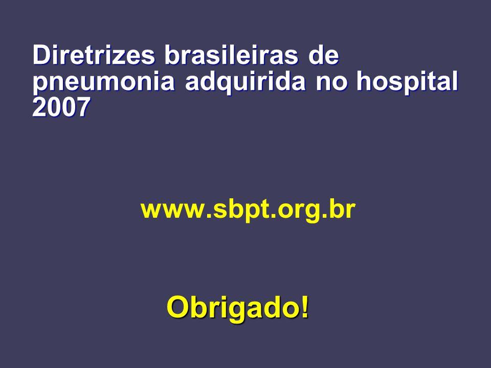 Diretrizes brasileiras de pneumonia adquirida no hospital 2007