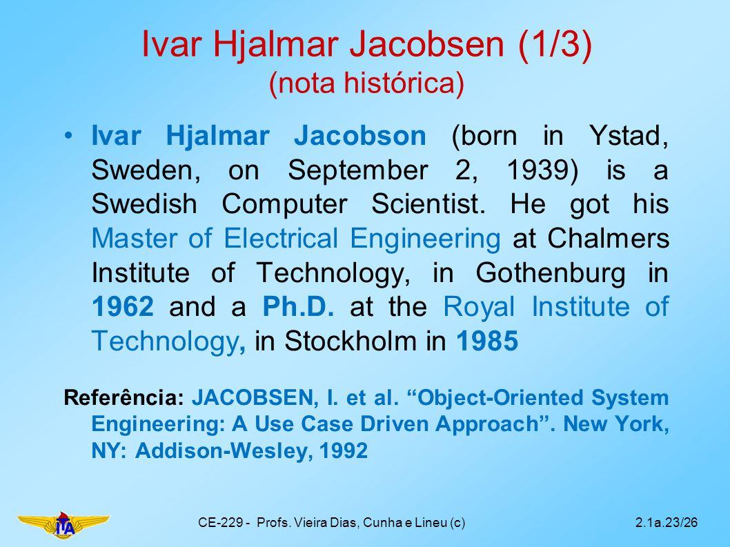 Ivar Hjalmar Jacobsen (1/3) (nota histórica)