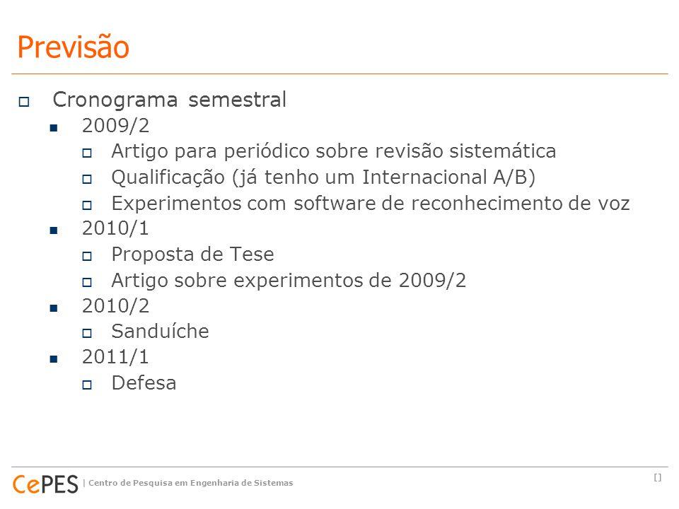 Previsão Cronograma semestral 2009/2