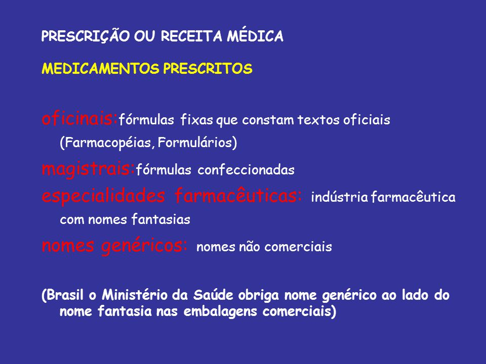 PRESCRIÇÃO OU RECEITA MÉDICA MEDICAMENTOS PRESCRITOS