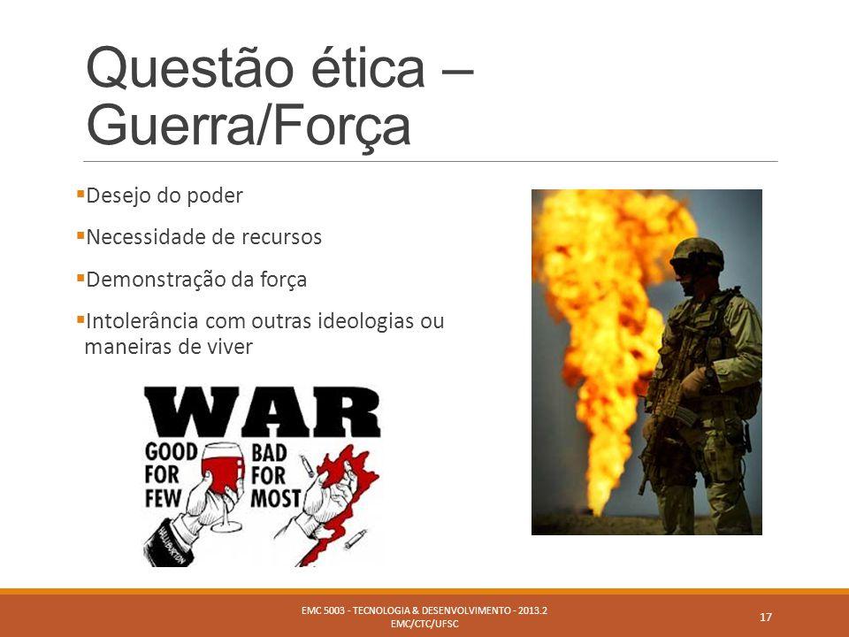 Questão ética – Guerra/Força