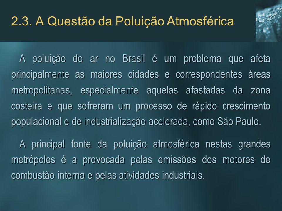 2.3. A Questão da Poluição Atmosférica