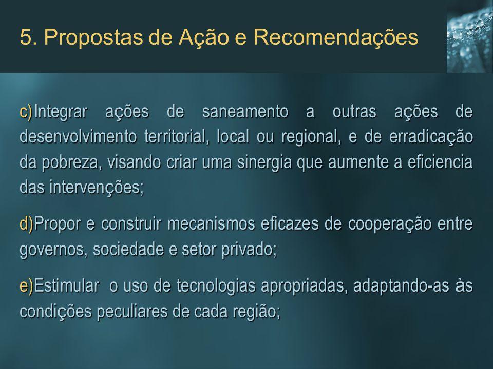 5. Propostas de Ação e Recomendações