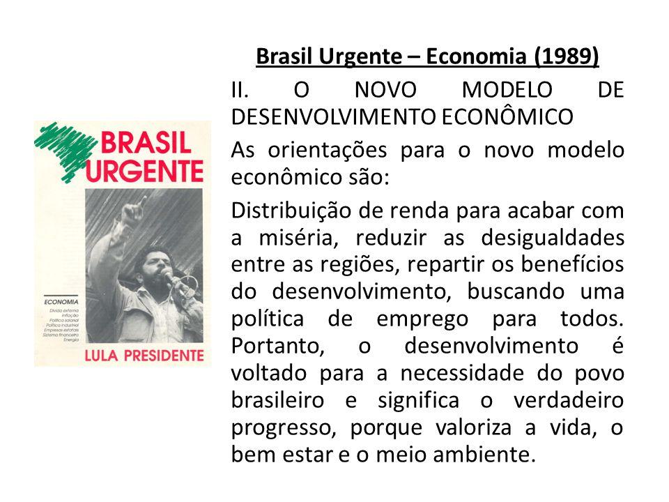 Brasil Urgente – Economia (1989) II