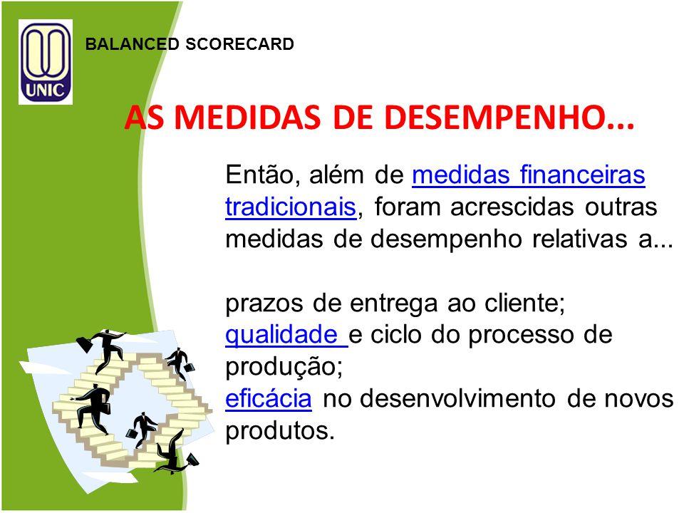 AS MEDIDAS DE DESEMPENHO...