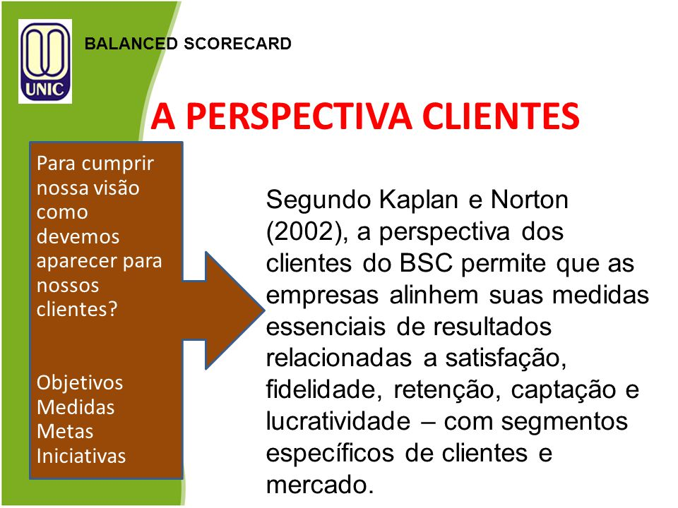A PERSPECTIVA CLIENTES