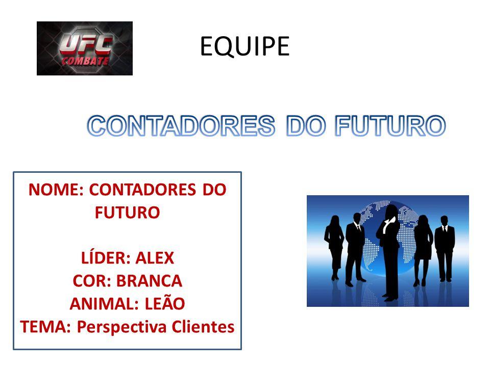 NOME: CONTADORES DO FUTURO TEMA: Perspectiva Clientes