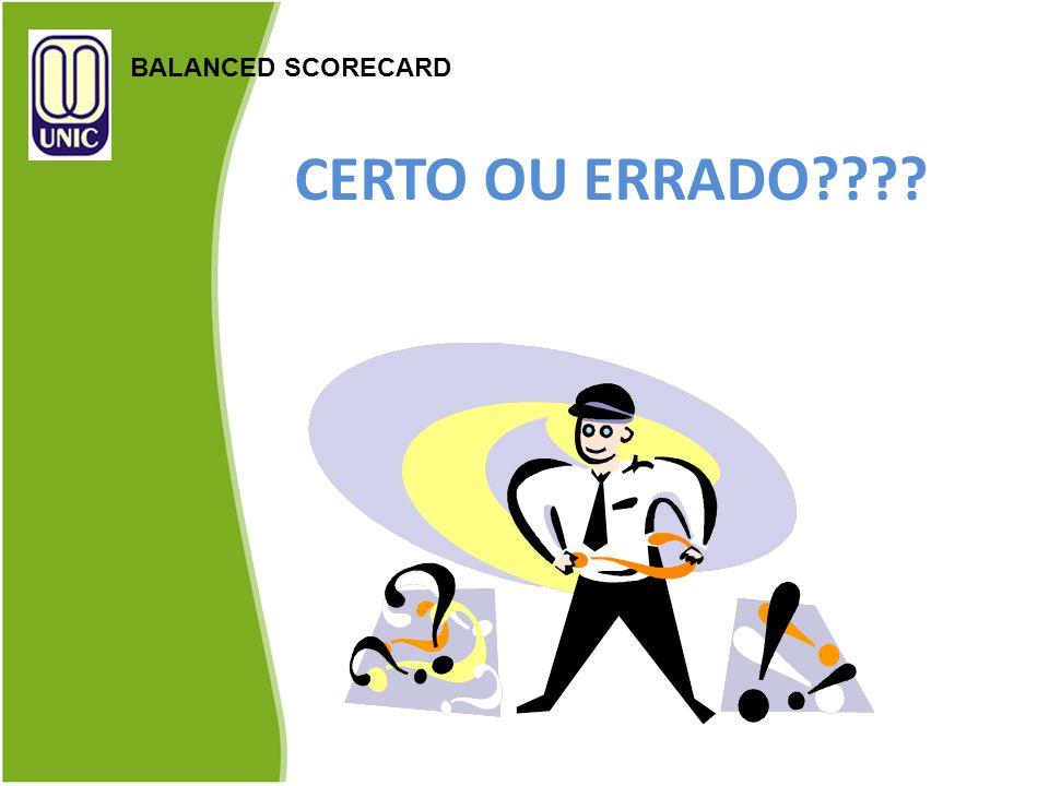 BALANCED SCORECARD CERTO OU ERRADO