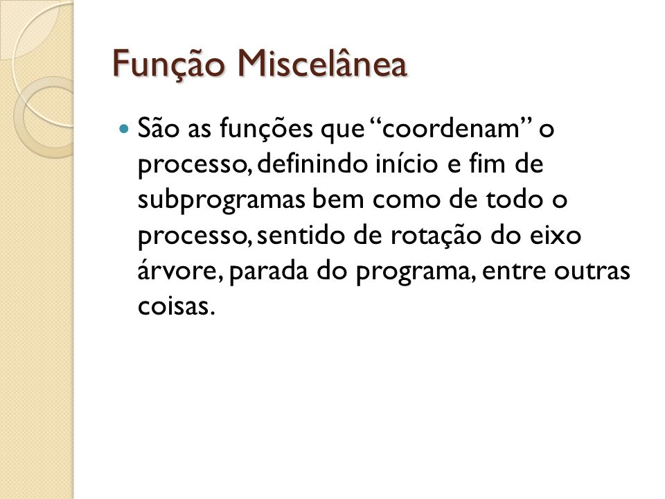 Função Miscelânea