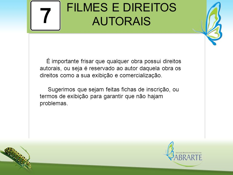 FILMES E DIREITOS AUTORAIS