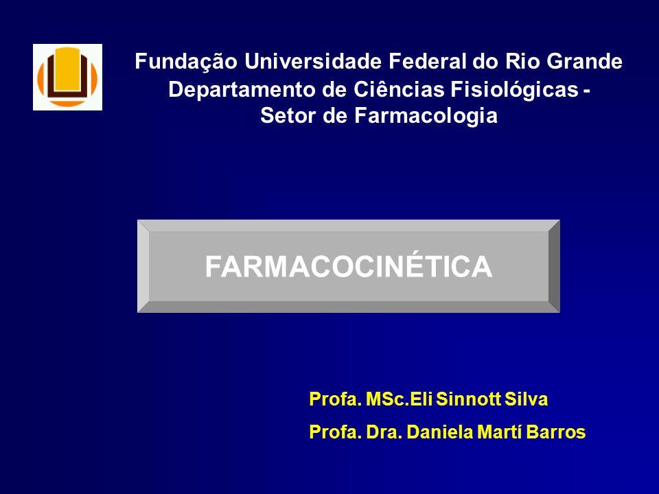 FARMACOCINÉTICA Fundação Universidade Federal do Rio Grande