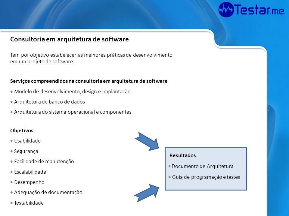 Consultoria em arquitetura de software