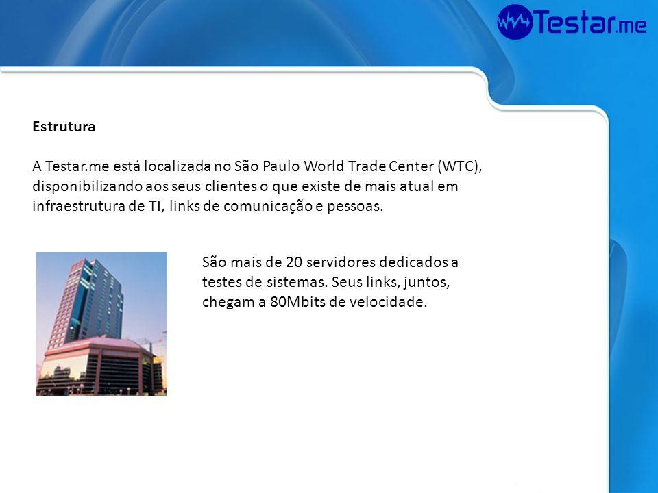 Estrutura A Testar.me está localizada no São Paulo World Trade Center (WTC),
