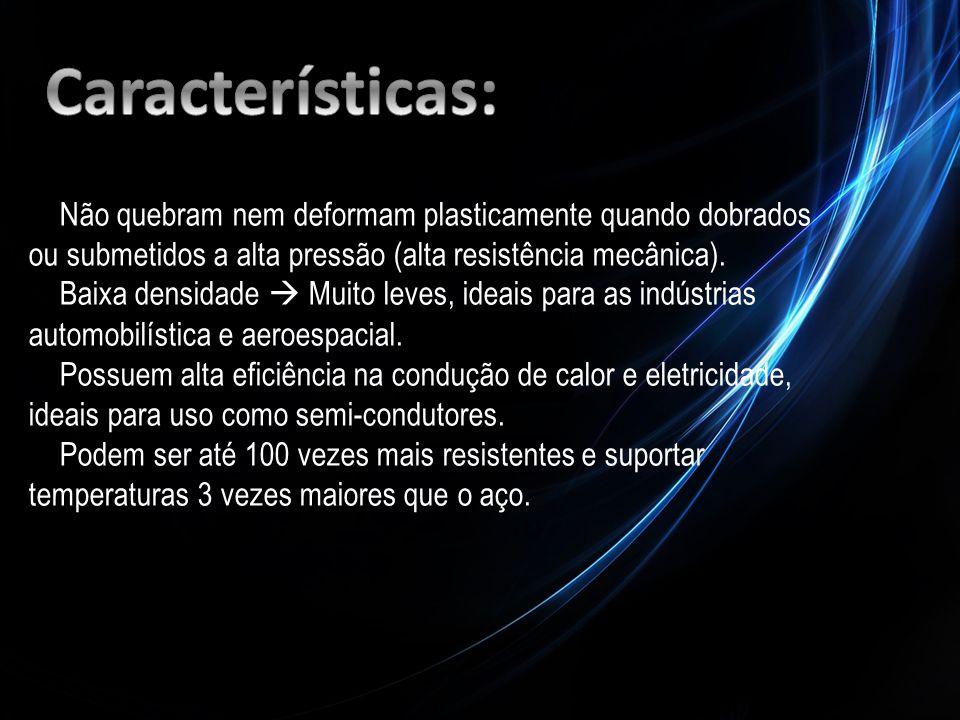 Características: Não quebram nem deformam plasticamente quando dobrados ou submetidos a alta pressão (alta resistência mecânica).