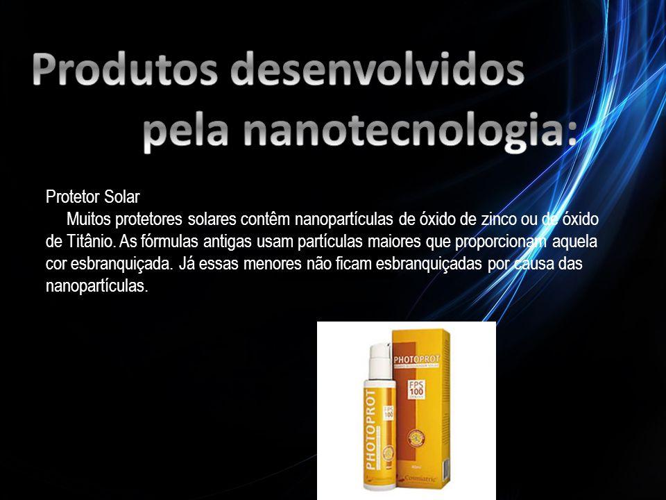 Produtos desenvolvidos pela nanotecnologia: