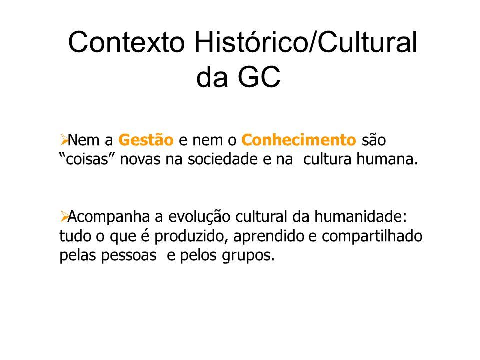 Contexto Histórico/Cultural da GC