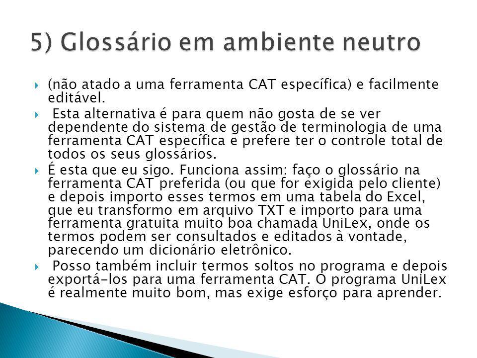 5) Glossário em ambiente neutro