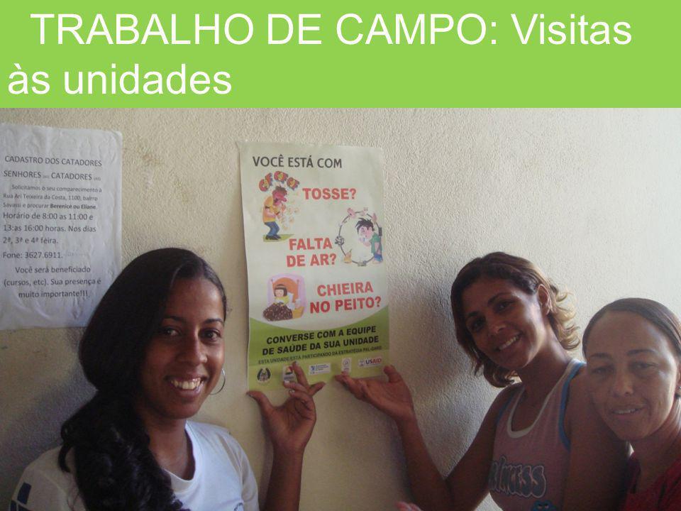 TRABALHO DE CAMPO: Visitas às unidades
