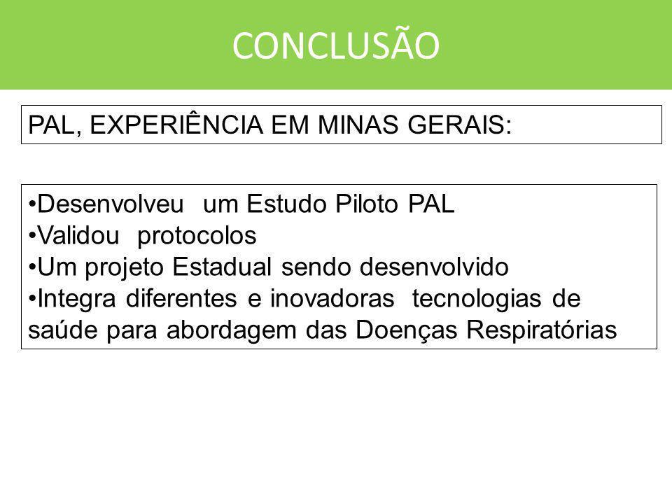 CONCLUSÃO PAL, EXPERIÊNCIA EM MINAS GERAIS: