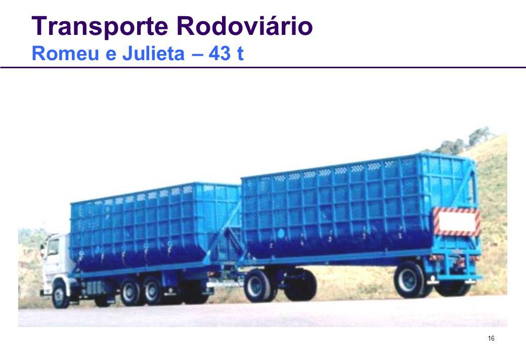 Transporte Rodoviário Romeu e Julieta – 43 t