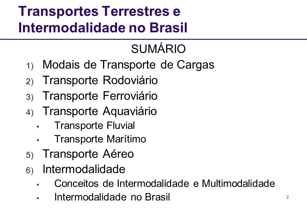 Transportes Terrestres e Intermodalidade no Brasil