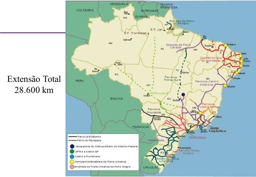 Extensão Total 28.600 km