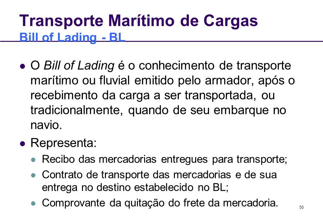 Transporte Marítimo de Cargas Bill of Lading - BL