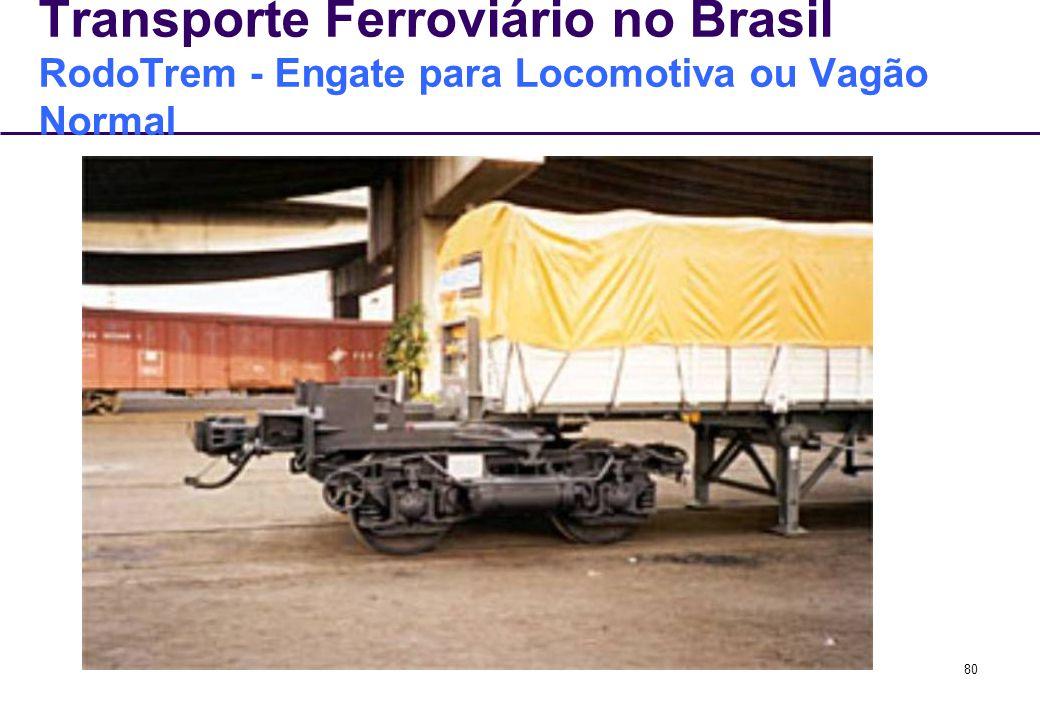 Transporte Ferroviário no Brasil RodoTrem - Engate para Locomotiva ou Vagão Normal