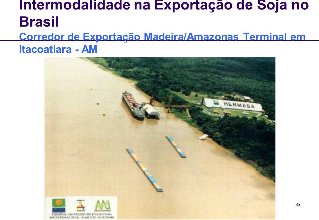 Intermodalidade na Exportação de Soja no Brasil Corredor de Exportação Madeira/Amazonas Terminal em Itacoatiara - AM