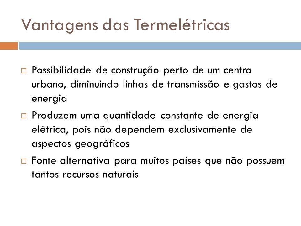 Vantagens das Termelétricas