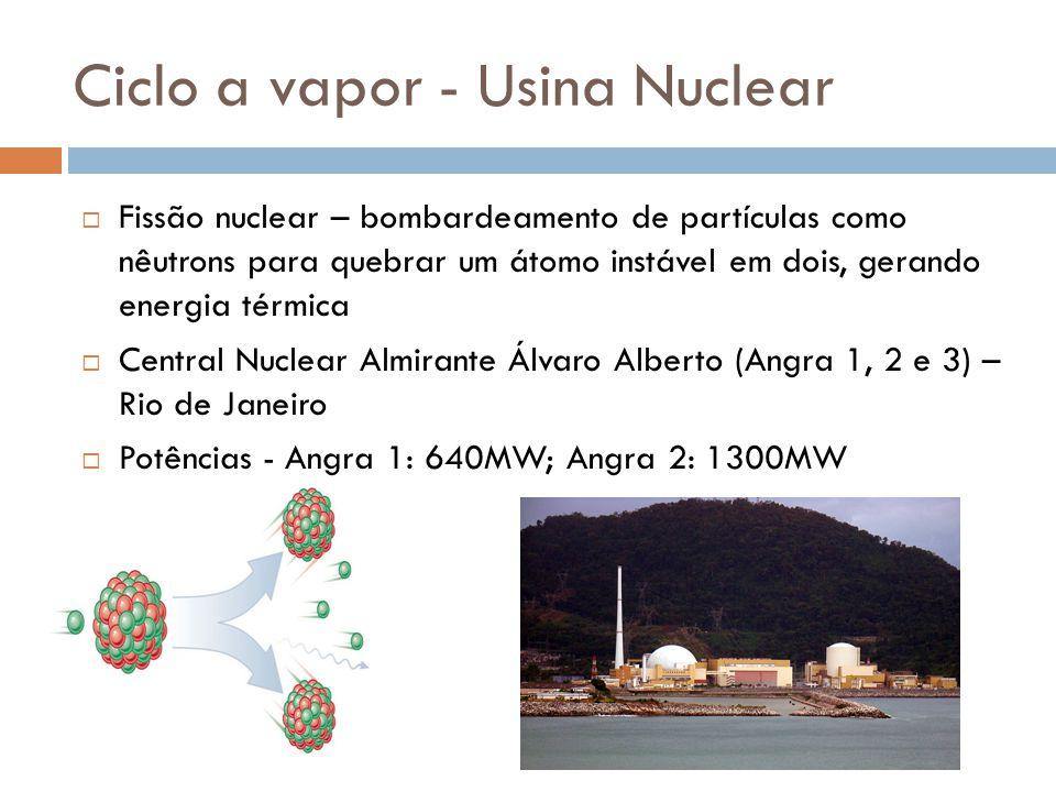 Ciclo a vapor - Usina Nuclear