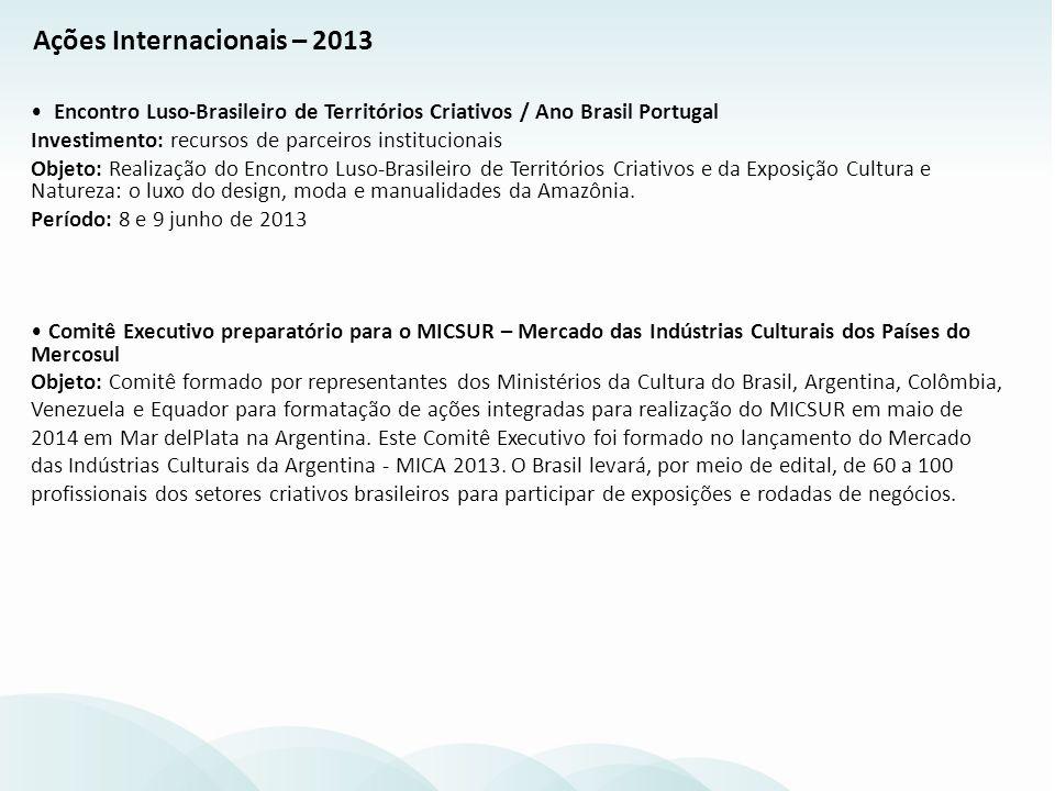 Ações Internacionais – 2013