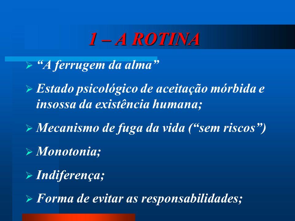 1 – A ROTINA A ferrugem da alma