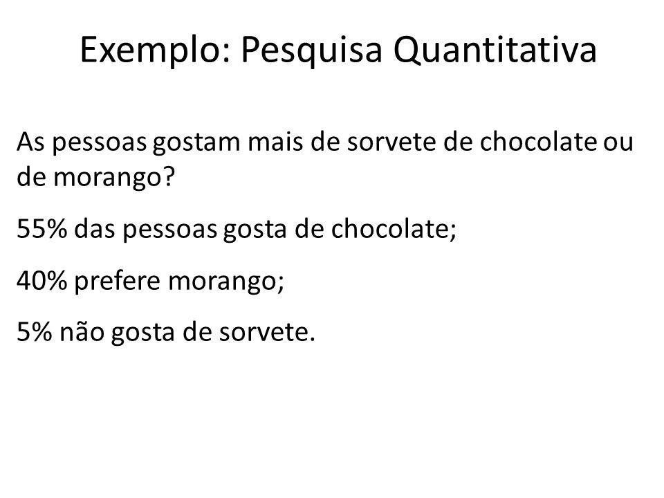 Exemplo: Pesquisa Quantitativa
