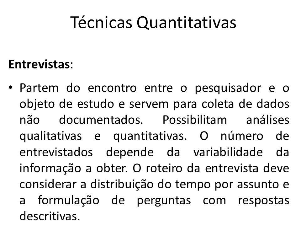 Técnicas Quantitativas