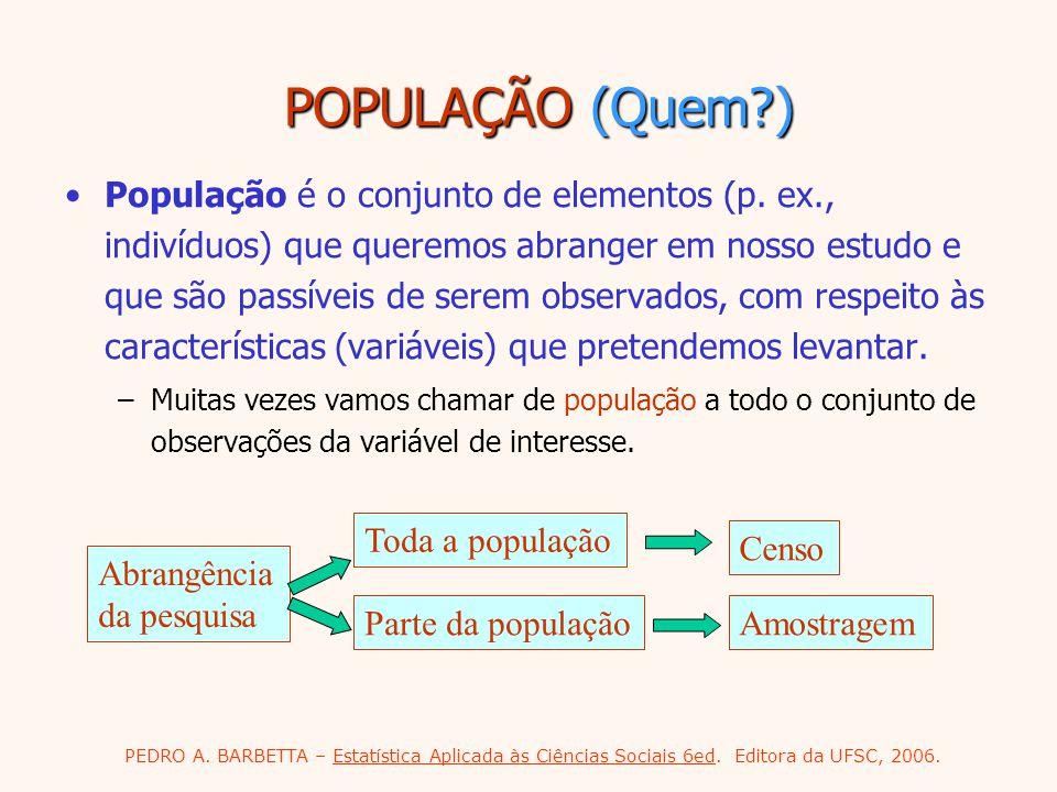 POPULAÇÃO (Quem )