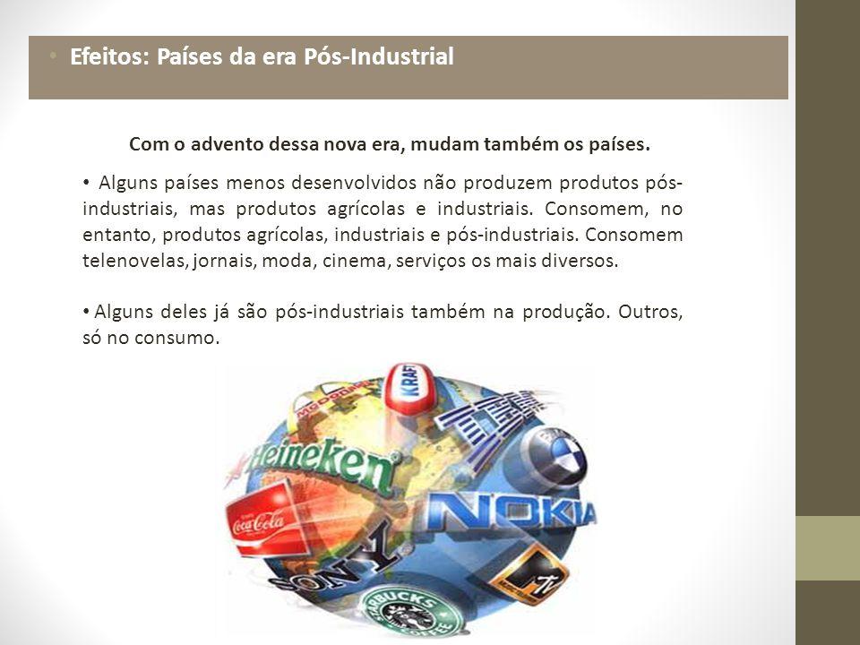Efeitos: Países da era Pós-Industrial