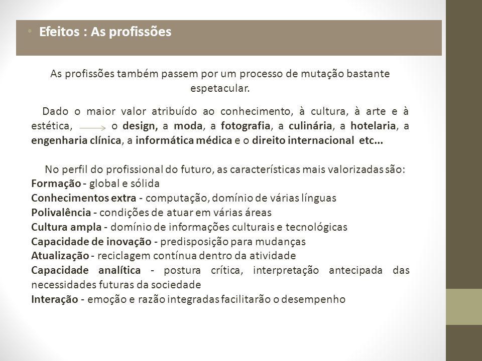 Efeitos : As profissões