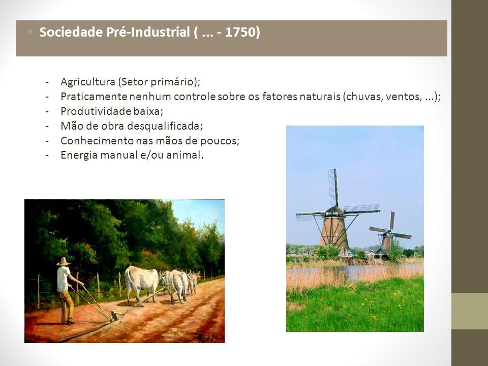 Sociedade Pré-Industrial ( ... - 1750)