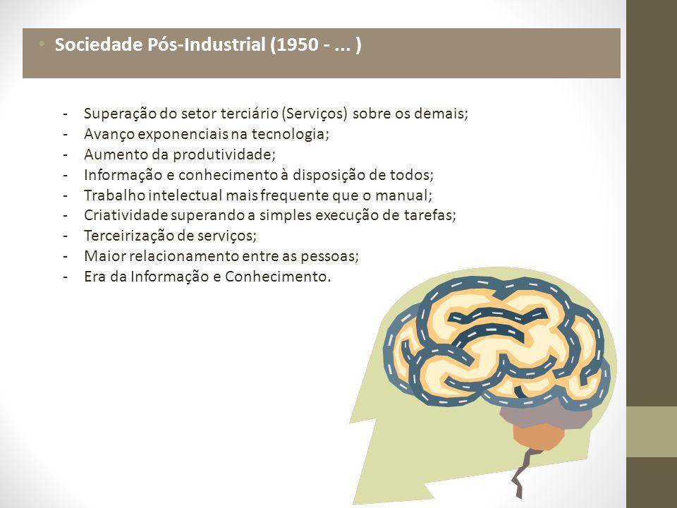 Sociedade Pós-Industrial (1950 - ... )