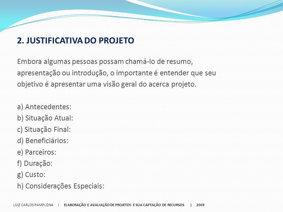 2. JUSTIFICATIVA DO PROJETO