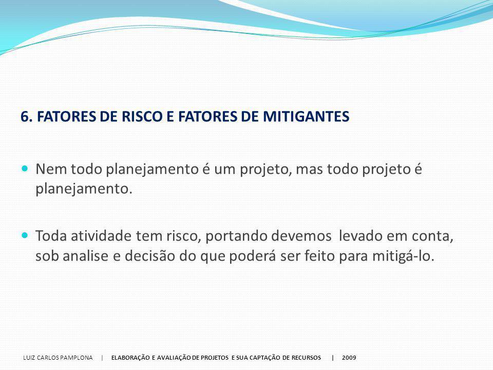 6. FATORES DE RISCO E FATORES DE MITIGANTES