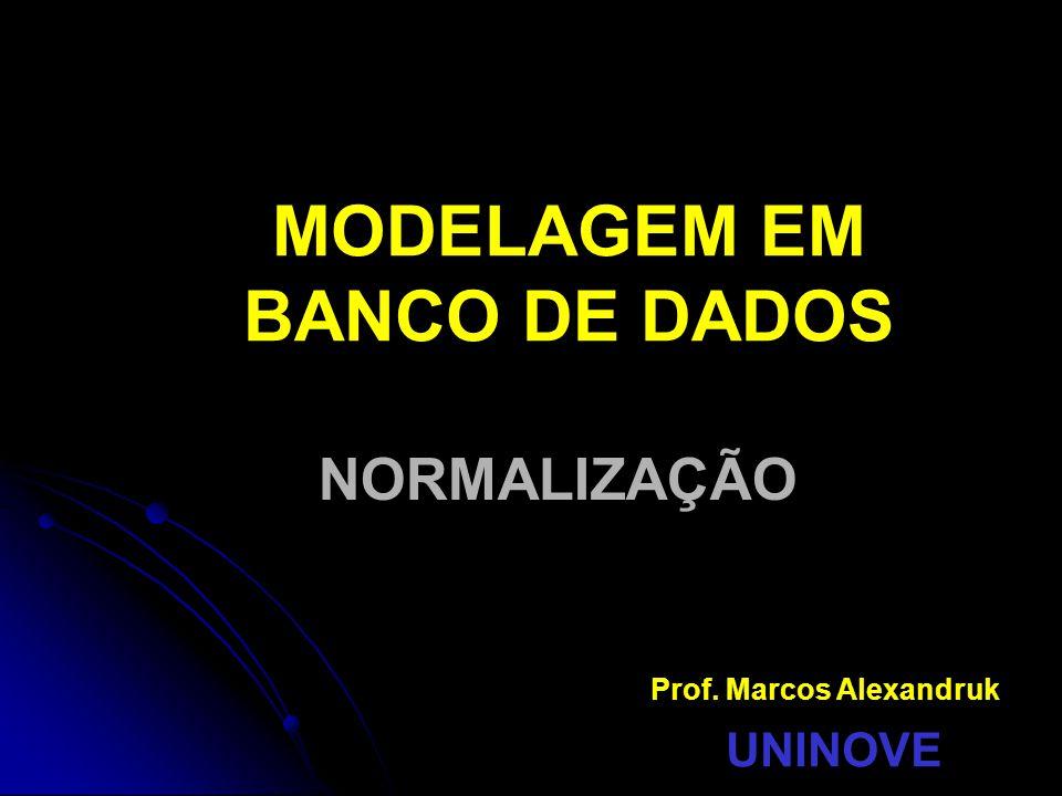 MODELAGEM EM BANCO DE DADOS