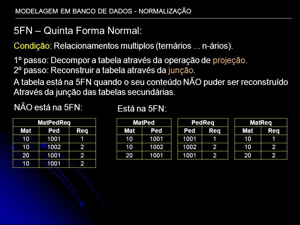 5FN – Quinta Forma Normal: