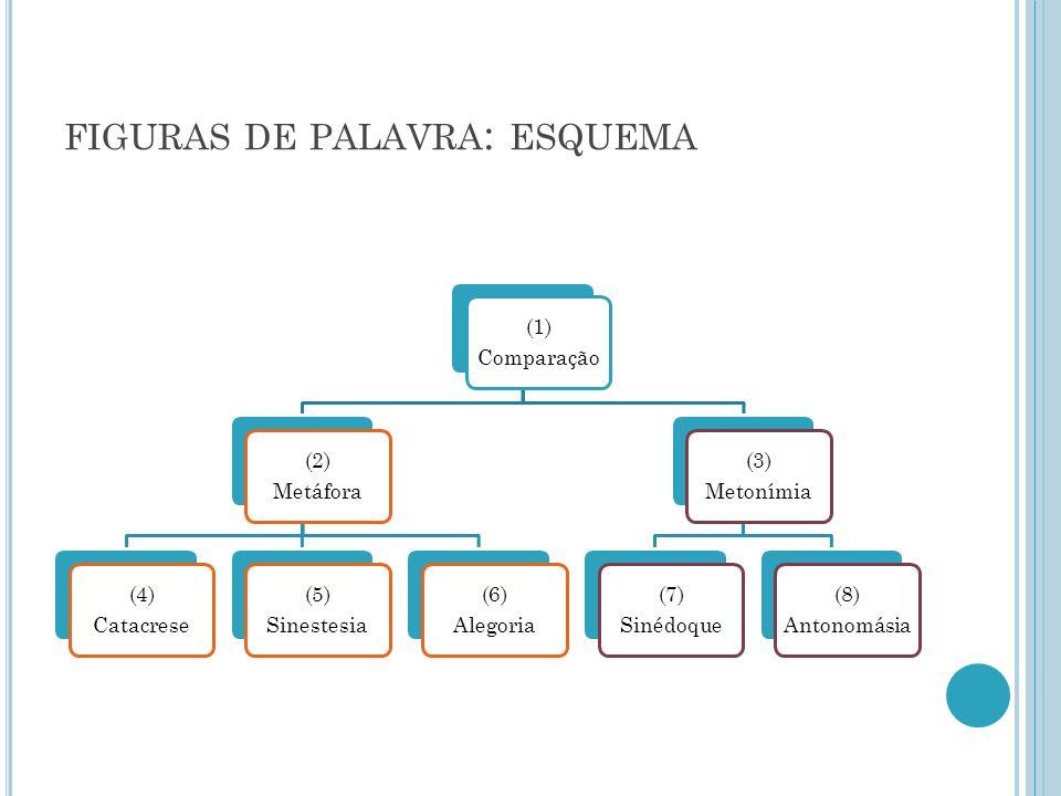 figuras de palavra: esquema