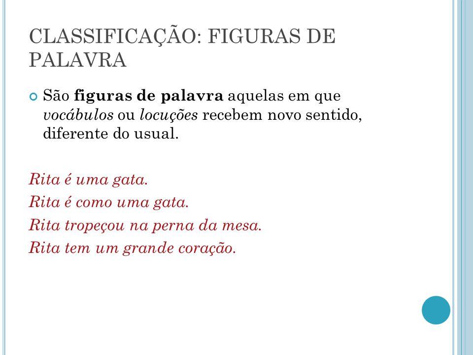 CLASSIFICAÇÃO: FIGURAS DE PALAVRA