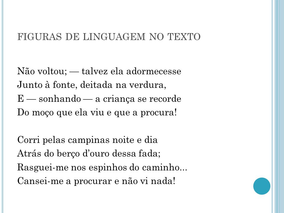 figuras de linguagem no texto