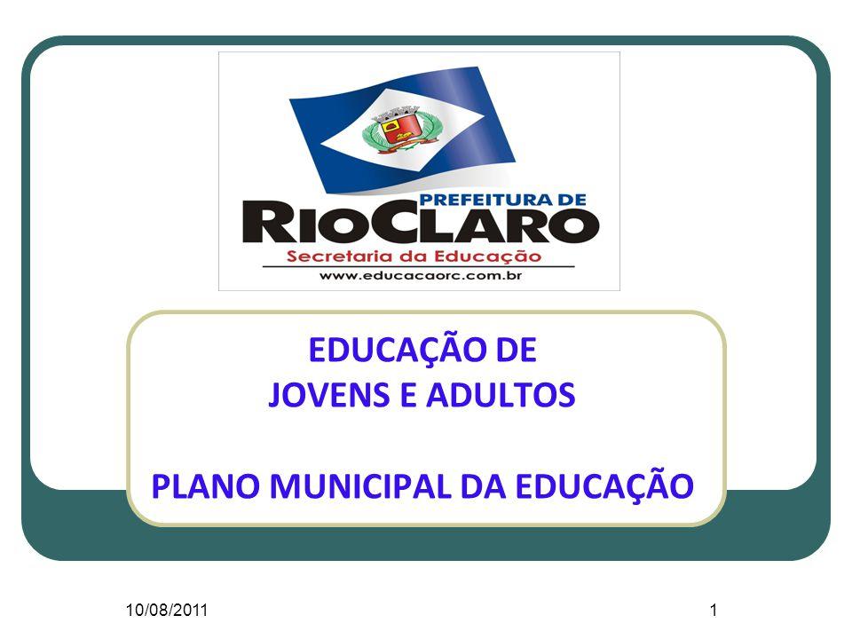 EDUCAÇÃO DE JOVENS E ADULTOS PLANO MUNICIPAL DA EDUCAÇÃO