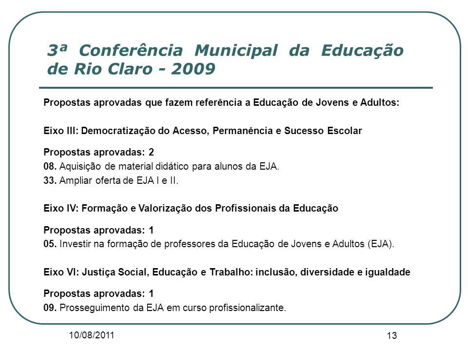 3ª Conferência Municipal da Educação de Rio Claro - 2009