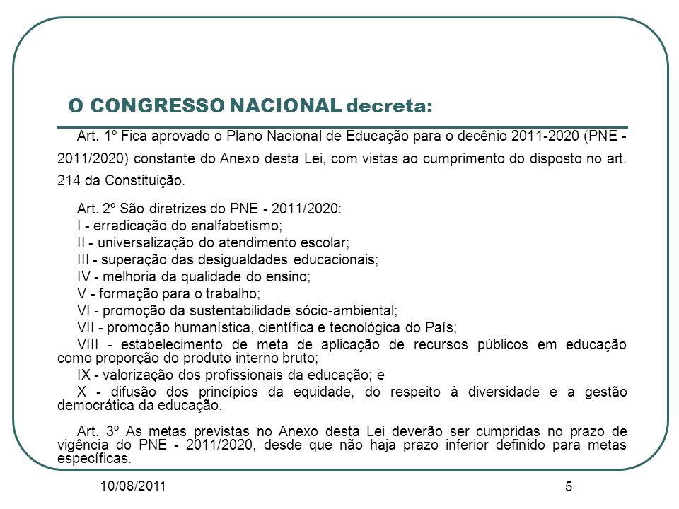 O CONGRESSO NACIONAL decreta: